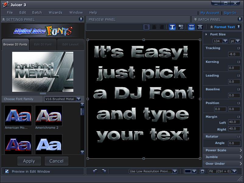 Digital Juice Font DVD 1 - NO SOFTWARE