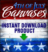 4th of July Canvases