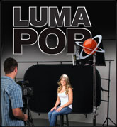 Luma Popup Screen - Black & White with Clear Bag