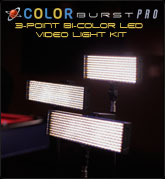 ColorBurst PRO 3-Point Bi-Color LED Video Light Kit