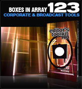 Editors Toolkit Pro Single 123: Boxes in Array