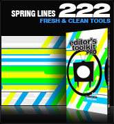 Editors Toolkit Pro Single 222: Spring Lines
