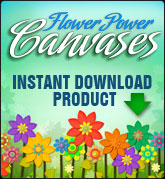 Flower Power Canvases