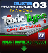 Toxic Type Christmas (for After Effects)