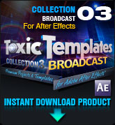 Toxic Templates Collection 3: Broadcast (for After Effects)