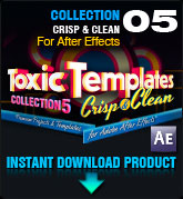 Toxic Templates Collection 5: Crisp & Clean (for After Effects)
