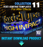 Toxic Type Collection 11 - High Impact(for After Effects)