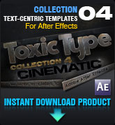 ToxicType Collection 4 - Cinematic (for After Effects)