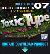 Toxic Type Collection 7 (for After Effects)