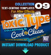Toxic Type Collection 9 - Cool and Clean (for After Effects)